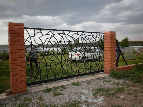 Забор металлический из профильной трубы