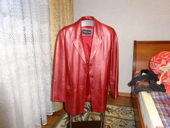 Кожанная женская куртка