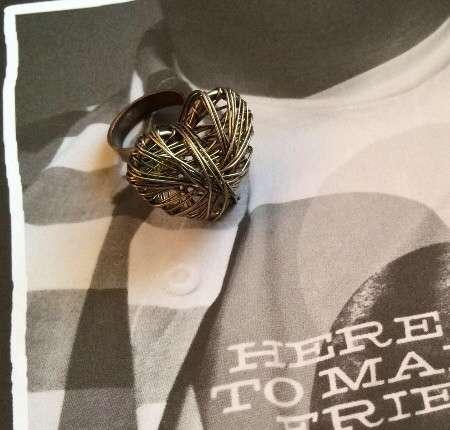 Перстень Сердце (плетёное)