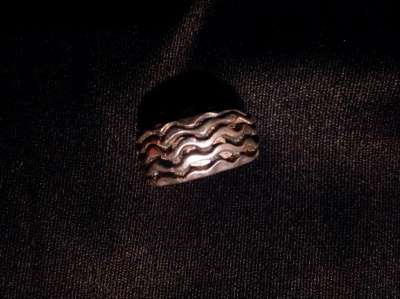 кольцо серебрянное, гальванопластика