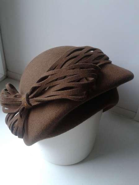 Продам шляпу женскую фетровую, размер 58