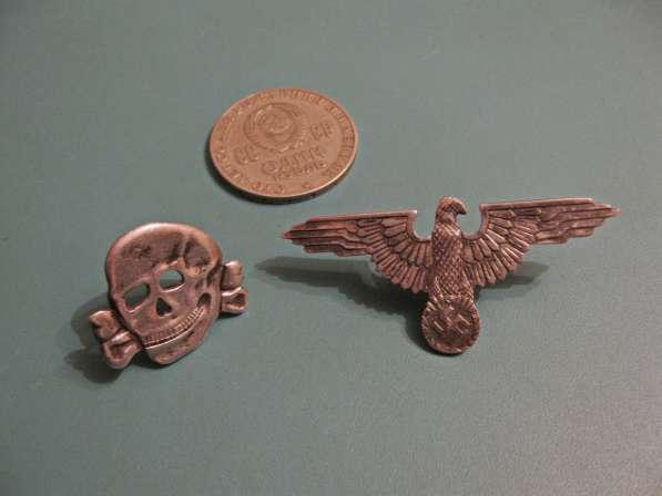 Эмблема и мертвая голова на фуражку эсэсовца (серебро) в фото 7
