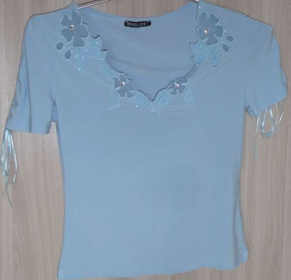 Блузка голубая, р-44 (46)