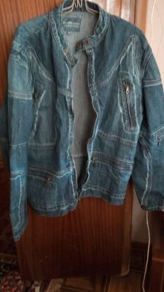 Продам новый джинсовый пиджак размер 48-52