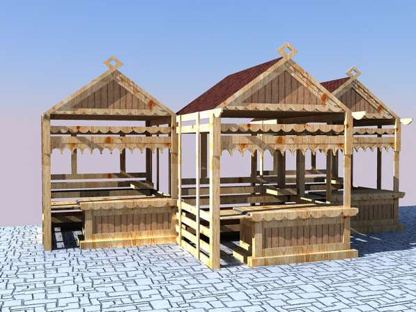 Изготавливаем деревянные ярмарочные домики