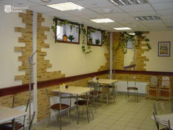 Облицовка стен кафе и ресторанов искусств. камнем в Чите