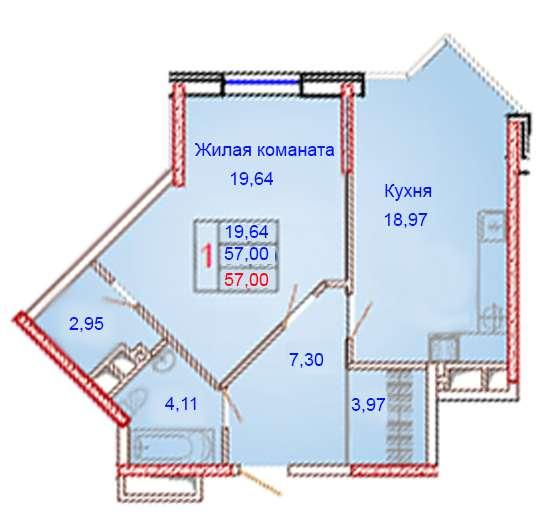 1-комнатная квартира бизнес-класса