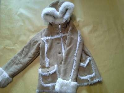 Куртка-дубленка для девочки - подростка