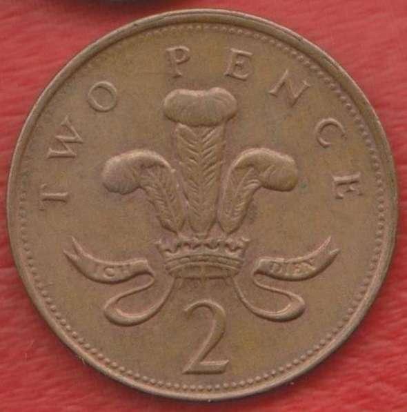 Великобритания Англия 2 пенни 2000 г. Елизавета II