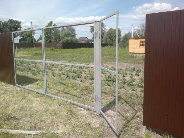 Ворота распашные с калиткой под ключ 3 на 1,5 метра