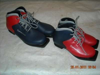 Ботинки лыжные motor classic (мотор классик) и stsnowt искуственная кожа;
