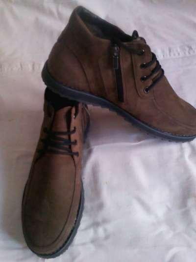 Ботинки зимние из нубука на меху новые