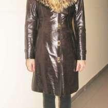 Кожаное зимнее пальто, в Москве