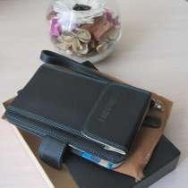Кожаное портмоне+чехол для телефона (13 см х 7 см х 3 см), в Москве
