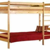 Кровать 2-х. ярусная из массива сосны. Кровати из массива, в Краснодаре