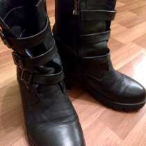 Сапоги кожаные осенние женские, размер 37,5-38, в Москве
