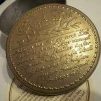 Табакерка Швеция ХХ век позолота 7см Корона, в Москве