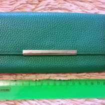 Новый кошелек из кожи зеленого цвета. Gillian, в Краснодаре