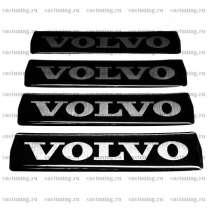 Наклейка на эмблему с логотипом Volvo, чёрная, в Москве