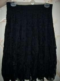 Черная гипюровая юбка, размер 44-46, в г.Петропавловск