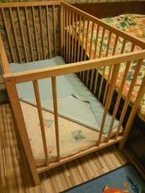 Детская кроватка 60х120 см, + матрас, + наматрасник, в Уфе