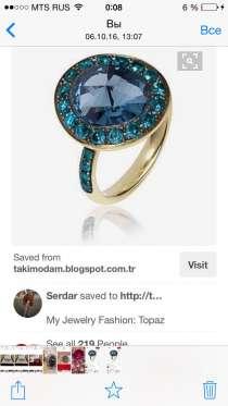 Шикарное золотое кольцо с топазами, в Москве