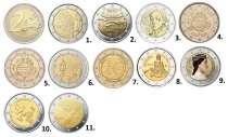 Юбилейные монеты 2 евро, в Санкт-Петербурге
