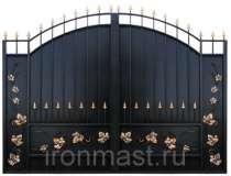 Ворота с коваными элементами, в Барнауле