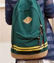 Зеленый Черный рюкзак с цветными полосками, в г.Запорожье