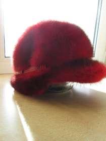 Женская норковая кепка - берет с козырьком, в Москве