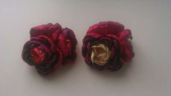 Продаю украшения, цветы из атласных лент