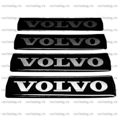 Наклейка на эмблему с логотипом Volvo, чёрная
