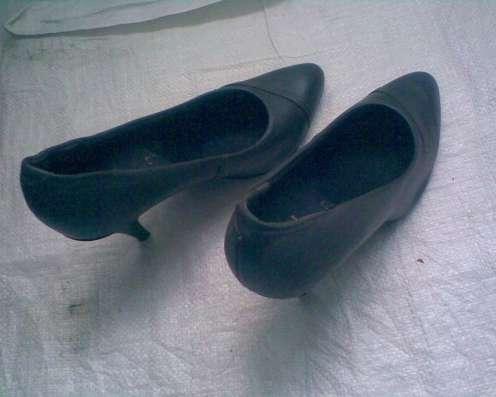 Темно-серые шикарные туфельки из натуральной кожи в г. Лозовая Фото 1