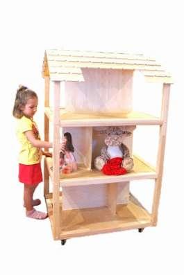 Роскошный деревянный кукольный домик ручной работы