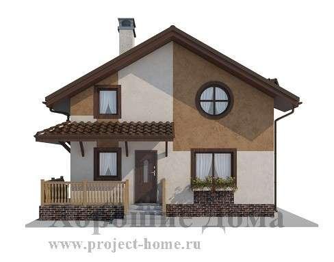 Строительство дома из газобетона 7.8x8.4 97.3 кв. м в Москве Фото 3