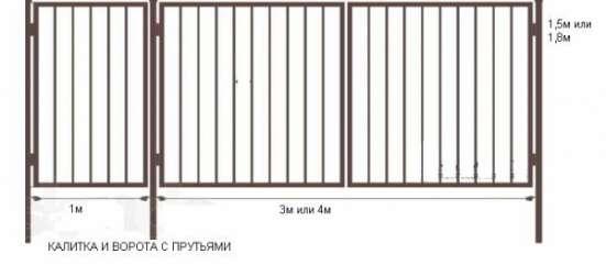 Ворота садовые в г. Гай Фото 1