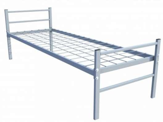 Двухъярусные железные кровати, для казарм, металлические кровати с ДСП спинками, кровати для бытовок, кровати по низкой цене. в Сочи Фото 1