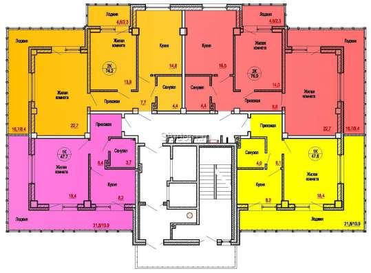 2-х комнатная квартира, ул. Карла Маркса, 213 в Красноярске Фото 1