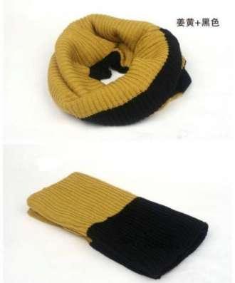 Двухцветный шарф-хомут