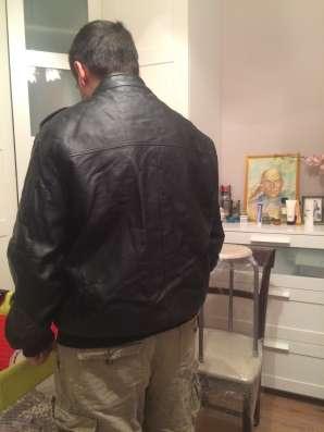 Кожаная куртка мужская размер XL