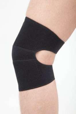 Турмалиновые наколенники на липучках, гибкая форма, XXL