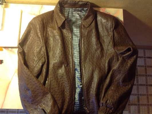 Кожаная куртка из страуса (мужская 50размер)