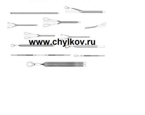 Кабельный чулок стандартный, ⌀10-20мм, L=1000мм, 1 петля в Москве Фото 2