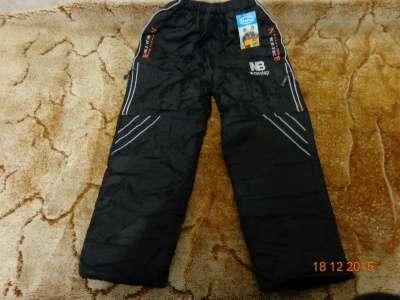 теплые брюки для мальчика 6-9 лет