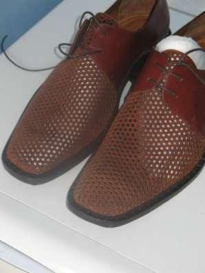 Мужские кожаные ботинки элитного бренда BRAUDE Италия в Москве Фото 5