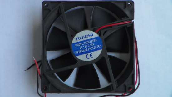 Вентилятор 92x92х25мм 12 ; 0,16А.