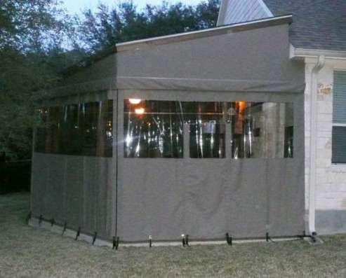 Уличные шторы для террас и веранд дома и дачи в Подольске Фото 1