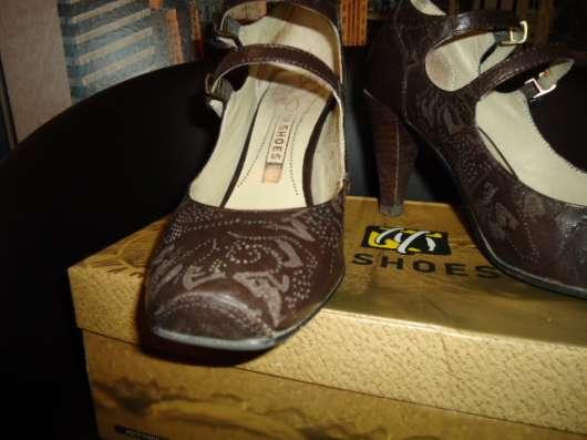 Туфли коричневые натурал. кожа р.35-36 в Новосибирске Фото 1