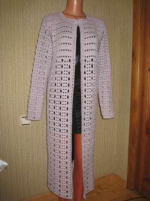 Кардиган-пальто выполненный крючком в Калуге Фото 1