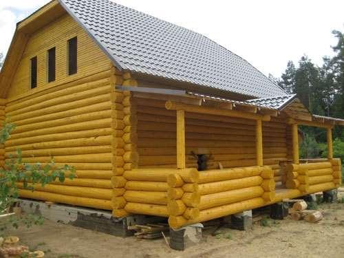 Строительство домов, бань из бревна и бруса.